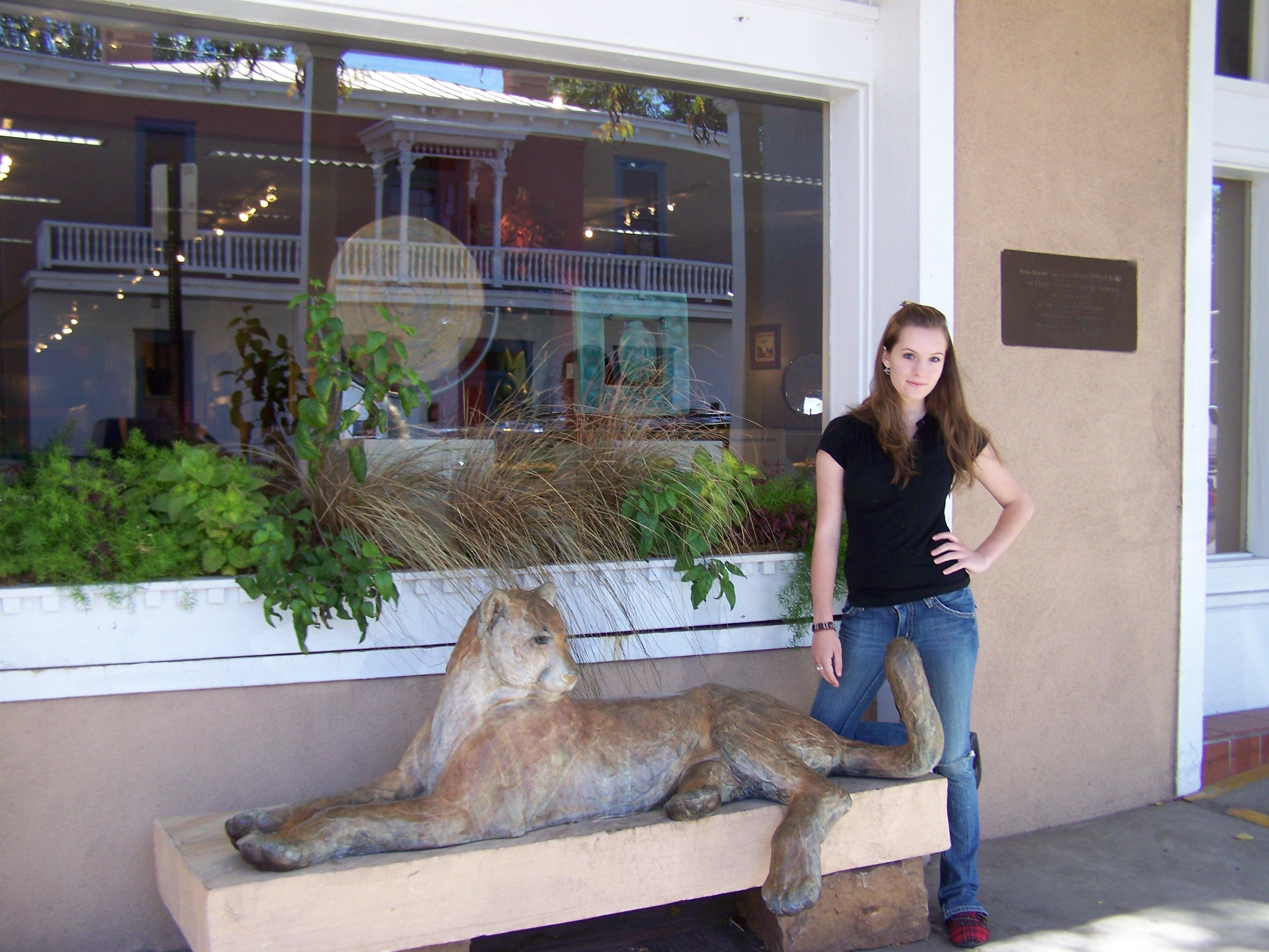 Morgan on a trip to Santa Fe